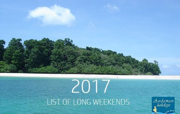 2017 Long weekend list